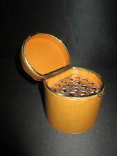 ancienne boite étui à cigarette de bureau vintage cuir et laiton XX ème