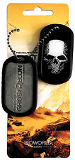 Ghost Recon wildlands-dog tags-Skull logotipo metal remolque-Ball Chain