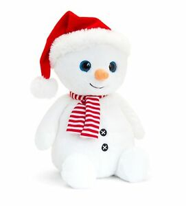 Christmas 20cm Snowman with a Winter Scarf and Hat cuddly soft toy