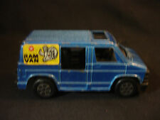 Old Vtg Collectible Blue Diecast Plastic Tootsietoy Toy Ram Van Made in USA