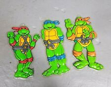3 Vtg 1990 TMNT Picture This 3D Wall Hanging Ninja Turtles