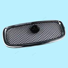 Front Center Grill Grille Black Mesh + Chromed Frame For 2012-15 Jaguar XF XFR