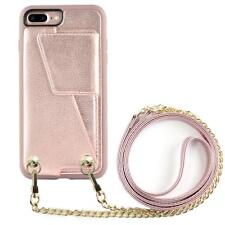 iPhone 7 plus Wallet Case with Crossbody Strap, ZVEdeng iPhone 8 plus Card Holde