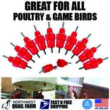 Chicken Water Nipples Poultry Drinker Chicks Hen Bird Pigeon Quail Waterers
