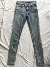 TOPSHOP TOP SHOP Leigh Stonewash Ultra Skinny W25 L32 Vgc Blue Jeans Bargain