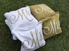!FREE SHIPPING! 8 Mr and Mrs Logo Cornhole Toss Bags