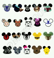 Star Wars Mickey Mouse ear nail Decals ( water decals) Star wars Nail art