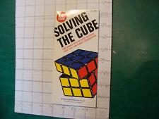 UNREAD Rubik Book: SOLVING THE CUBE c. 1981, 22pgs