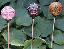 Solar Powered Glass Ball Garden Landscape Lamp Outdoor Path Yard LED Lights Set