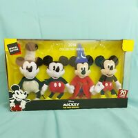 "Disney Plush 8"" Mickey Mouse Collector's Set of 4, 2018, 90 Years of Magic"