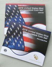 USA US Mint Uncirculated Coin Set 2018 D und P