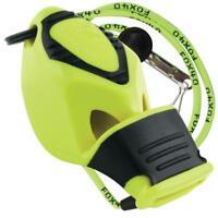 Fox 40 EPIK CMG Whistle Rescue Safety Referee NEON YELLOW W/ LANYARD BEST VALUE!