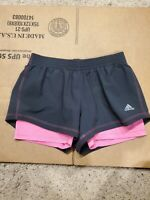 New Without Tags Women's Adidas Climalite Black/Pink Shorts Size Small