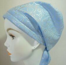 Chemo Cancer Hat Alopecia Hair Loss Cotton Scarf Turban Head Wrap Silver Swirls