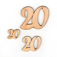 Geburtstag Zahl 20 aus Holz verschiedene Größen Geschenk Hochzeit Jubiläum Deko