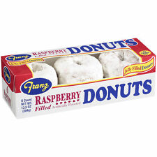 2 Fresh Boxes of Franz Raspberry Filled Powdered Donuts Snacks 12Pcs - 2 Boxes