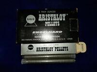VINTAGE (5) ENGELHARD 1 Troy Ounce Bottles Baker Dental SILVER Aristaloy Pellets