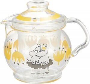 Moomin Celec Glass Teapot w/ Strainer 460ml Kukka Yellow Japan Limited