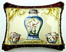 Schumacher fabric ''Chinese Vase'' Designer Pillow W/ insert