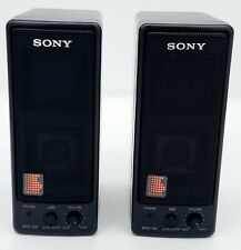 Vintage Sony SRS-55 DBB Portable Powered Amplified Active Speakers A+ Condition