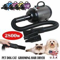 2800W Low Noise Pet Dog Cat Grooming Hair Dryer Blower Variable Speed / Heat New