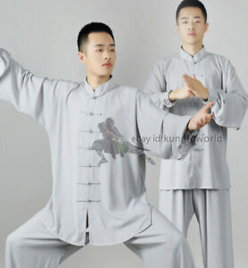 Soft Comfortable Tai chi Uniform Martial arts Kung fu Suit Wing Chun Clothes