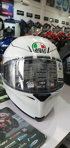 AGV K5 S Tornado Pearl White Motorcycle Motorbike Lightweight Sun Visor MS