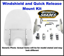 "Memphis Shades Fats 21"" Motorcycle Windshield & Mount kit Harley Dyna Wide Glide"