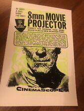 8MM MOVIE PROJECTOR CINEMASCOPE PRINT POSTER NAPKIN ART STUDIOS FILM MONSTER!