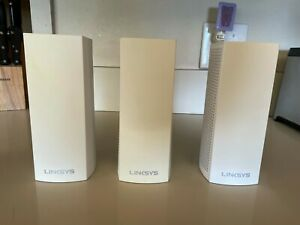 LINKSYS Velop Intelligent Mesh WiFi Sys (WHW03) Tri-Band, 3-Pack White