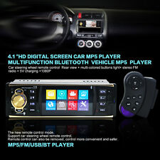 "New 4.1"" HD 1 DIN Bluetooth Car Stereo MP5 Player Video Radio AUX/FM/USB/SD/MMC"