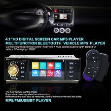 """NUOVO 4.1 """" HD 1 DIN BLUETOOTH AUTORADIO MP5 lettore video radio dei / FM"""