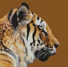 "Tigre Siberiano 8 puntada cruzada contada Kit 10 ""x 10"" De 25.4 Cm X 25,4 Cm"