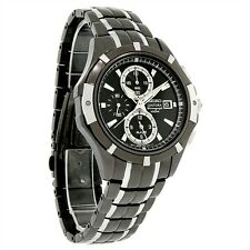 SEIKO COUTURA CHRONOGRAPH ALARM DATE TWO-TONE ST.STEEL MEN'S WATCH SNAE57 NEW