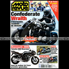 MOTO REVUE N°3665 CONFEDERATE WRAITH GUZZI V11 CAFE SPORT KAWASAKI ZRX 1200 2005