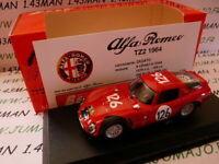 BES4H voiture1/43 BEST : ALFA ROMEO TZ2 Targa Fioro 1966 rouge #126 BES06
