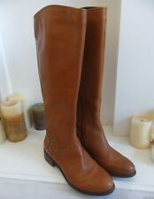 Guess Tan Brown Leather Stud Riding Knee High Boots US 7M UK5