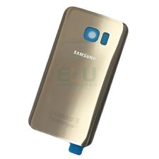 For Samsung Galaxy S7 Edge Back Glass Rear Battery Cover - Gold Platinum