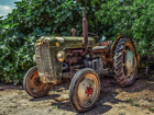 """Aging/ Neglected Farm Tractor Art Print 8.5"""" x 11"""" Reprint"""
