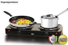 Electric Portable Cooktop Double Stove Hot Plate Dual Burner Top Compact Buffet