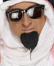 Bouc Noir Sultan Oriental Auto Adhesif Deguisement Arabe Barbes Et Moustaches