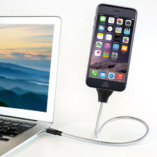 Flexible Stand Up Metal Cable Charger Mount For iPhone - US seller Free Shipping