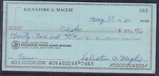 Salvatore A. Maglie Signed Check w/COA 122717DBT