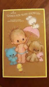 Vintage Hallmark Games For Baby Showers Booklet Fun party games for up to 12