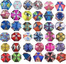 Disney Lightweight Children Kids Rain Umbrella Molded 3D Figure Handle Umbrella