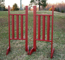Horse Jumps Vertical Rail Wing Standards 5ft/Pair - Color Choice #221