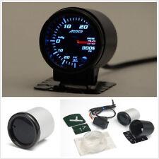 """12V Professional 2""""/52mm 7 Color LED Smoke Lens Car PSI Turbo Boost Gauge Meter"""