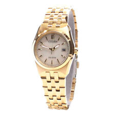 Citizen Gold Ladies Analog Business Eco-Drive EW2292-67P