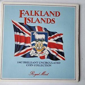 1987 Falkland Islands Royal Mint BU Coin Set