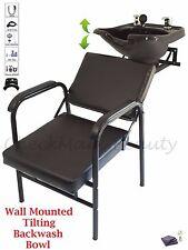 Backwash Tilting  Shampoo Bowl Sink Wall Mounted Shampoo Chair TLC-B13WT-216A